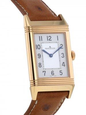 Наручные часы Reverso pre-owned 27 мм 2010-го года Jaeger-LeCoultre. Цвет: белый