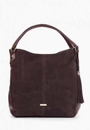 Комплект Adelia сумка с брелоком. Цвет: коричневый