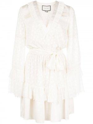 Платье мини Karina Alexis. Цвет: белый