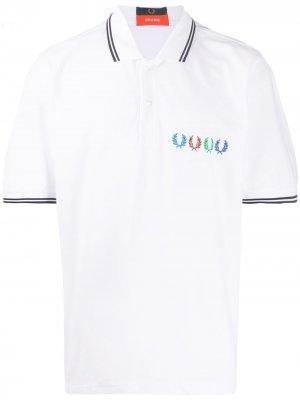 Рубашка поло с контрастной отделкой Fred Perry. Цвет: белый