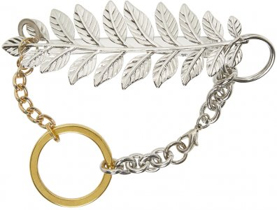 Silver & Gold Feather Materialmix Bracelet Bless. Цвет: gold/silver