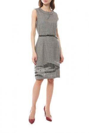 Платье Elie Tahari. Цвет: серый