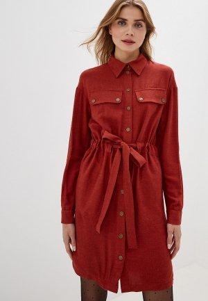 Платье Adzhedo. Цвет: коричневый
