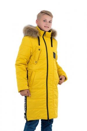 Пальто Talvi. Цвет: горчичный