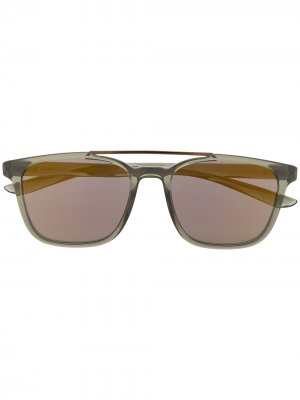 Солнцезащитные очки Windfall в квадратной оправе Nike. Цвет: зеленый