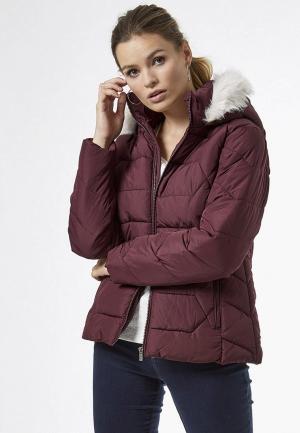 Куртка утепленная Dorothy Perkins. Цвет: бордовый