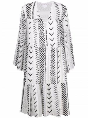 Платье Dafina X-Stitch с вышивкой Lala Berlin. Цвет: белый
