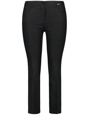 Расклешенные брюки 7/8 Betty SAMOON Gerry Weber. Цвет: black pattern
