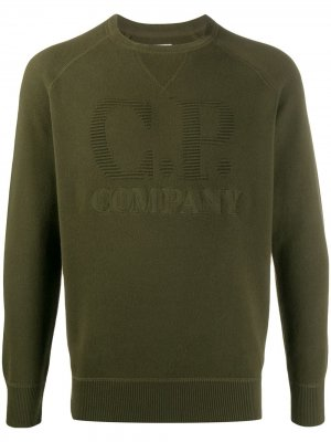 Толстовка с вышитым логотипом C.P. Company. Цвет: зеленый