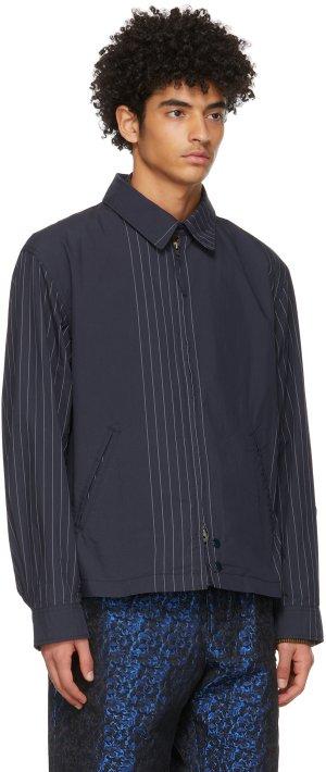 Navy Stripe Claigton Jacket Engineered Garments. Цвет: zt129 dknvy