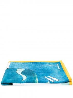 Пляжное полотенце Babar с принтом LANVIN. Цвет: синий
