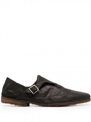 Туфли монки с перфорацией и складным задником Premiata. Цвет: черный