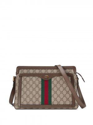 Сумка на плечо с узором GG Supreme Gucci. Цвет: нейтральные цвета