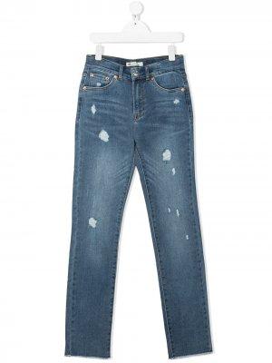 Levis Kids джинсы с эффектом потертости Levi's. Цвет: синий