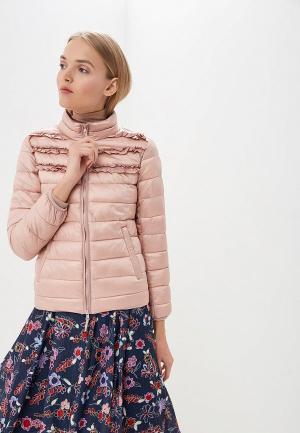 Куртка утепленная Twinset Milano. Цвет: розовый