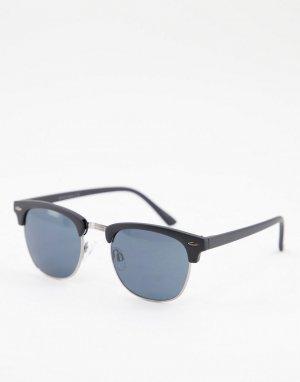 Черные солнцезащитные очки в стиле ретро -Черный цвет Jack & Jones
