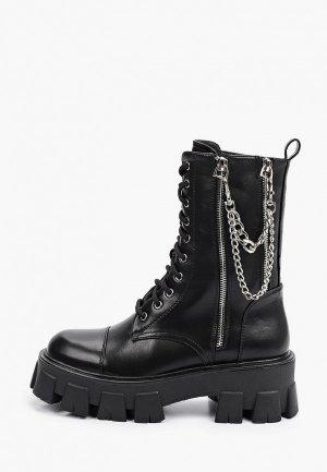 Ботинки Vivian Royal и брелок-цепочка 2 шт.. Цвет: черный