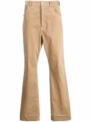 Длинные расклешенные брюки Acne Studios. Цвет: нейтральные цвета