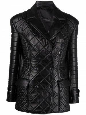 Стеганая куртка Manokhi. Цвет: черный