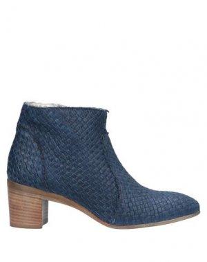 Полусапоги и высокие ботинки ALEXANDER HOTTO. Цвет: грифельно-синий