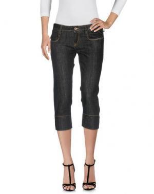 Джинсовые брюки-капри MELTIN POT. Цвет: черный