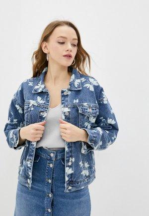 Куртка джинсовая Aaquamarina. Цвет: синий