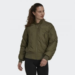 Куртка-бомбер Parley Sportswear adidas. Цвет: хаки