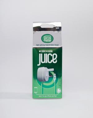 Сетевое зарядное устройство 2,4 А с кабелем Lightning -Белый Juice