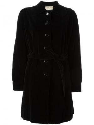 Бархатное пальто Emanuel Ungaro Vintage. Цвет: чёрный