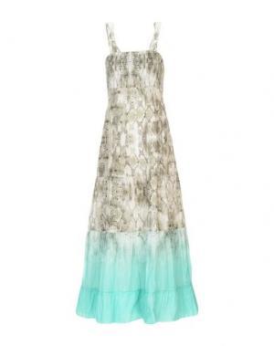 Длинное платье MARANI JEANS. Цвет: светло-зеленый