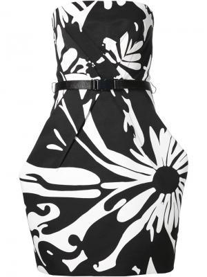 Приталенное платье без бретелек Kaufmanfranco. Цвет: чёрный