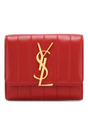 Кожаный кошелек Vicky Saint Laurent. Цвет: красный