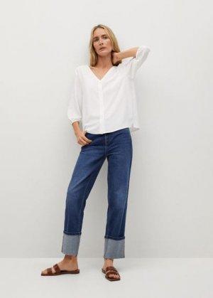 Струящаяся блузка с пуговицами - Daisy-l Mango. Цвет: белый