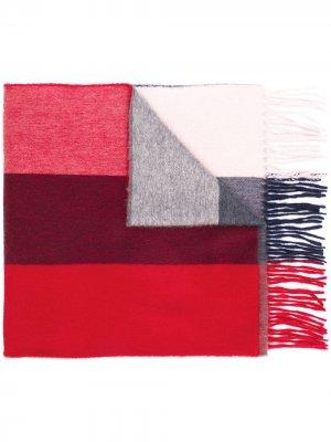Шарф в стиле колор-блок Begg & Co. Цвет: красный