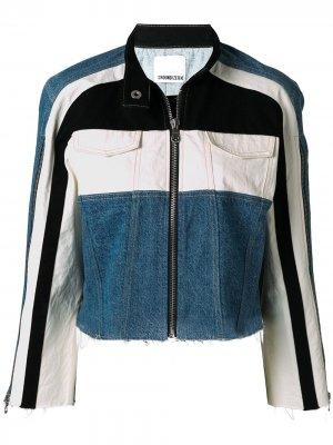 Джинсовая куртка с контрастной вставкой Ground Zero