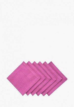 Комплект салфеток сервировочных Семейные ценности. Цвет: фиолетовый
