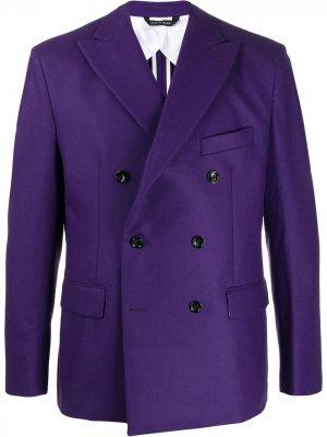 Двубортный пиджак LC23. Цвет: фиолетовый