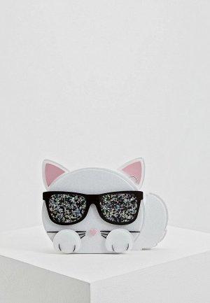 Клатч Karl Lagerfeld. Цвет: белый