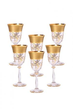 Набор бокалов Bohemia. Цвет: прозрачный, золотой, белый