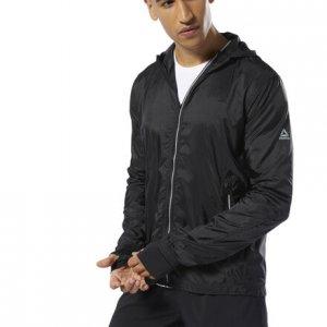 Спортивная куртка Running Wind Protection Reebok. Цвет: black