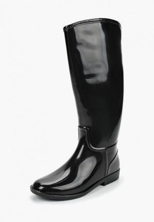 Резиновые сапоги Anra. Цвет: черный