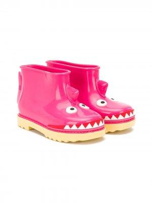 Резиновые сапоги Under Sea Mini Melissa. Цвет: розовый
