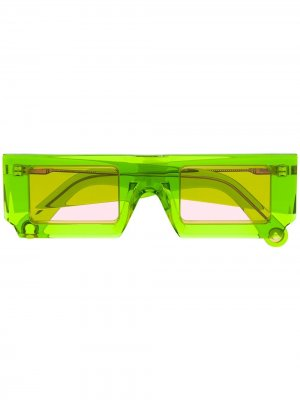 Солнцезащитные очки Les Lunettes Jacquemus. Цвет: зеленый