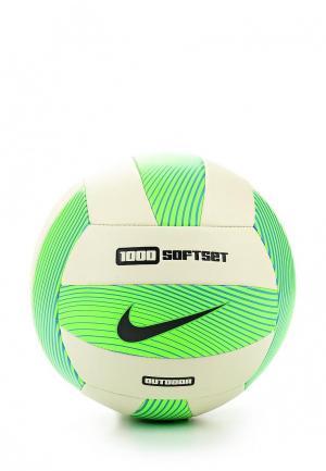 Мяч волейбольный Nike 1000 SOFTSET OUTDOOR VOLLEYBALL INFLATED WITH BOX. Цвет: зеленый