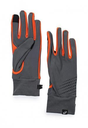 Перчатки ASICS BASIC PERFORMANCE GLOVES. Цвет: серый