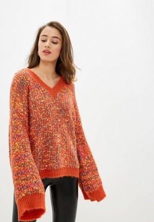 Пуловер Care of You. Цвет: оранжевый