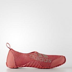 Коралловые тапочки Kurobe Performance adidas. Цвет: зеленый