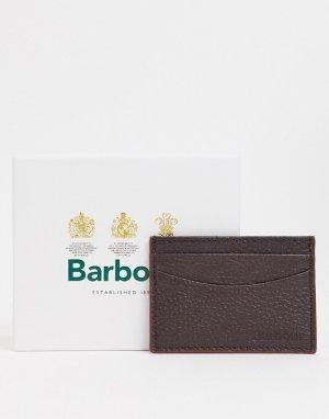 Кожаный кошелек для карт коричневого цвета -Коричневый Barbour