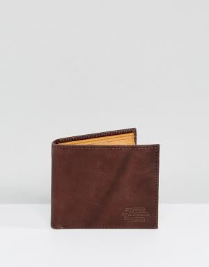 Коричневый кожаный бумажник с кармашком для монет Dogma Element. Цвет: коричневый