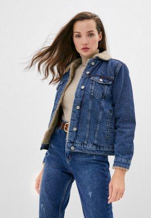 Куртка джинсовая Chic & Charisma OUTWEAR JEANS. Цвет: синий
